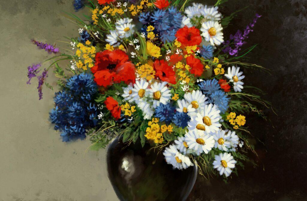 """Виртуална изложба """"Цветята във вазата"""", колекция от фонда на галерията"""